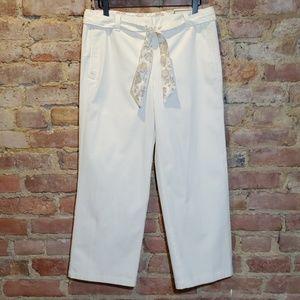 Ann Taylor Margo crop pants cream size 6